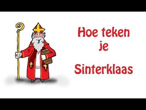 Hoe teken je Sinterklaas - YouTube