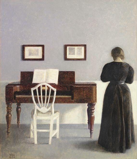 : Danishes Painters, Folk Art, The Piano, Art Abstract Art, Vilhelm Hammershoi, Invitations Ideas, Danishes Art, Art I Lov, Art Soul