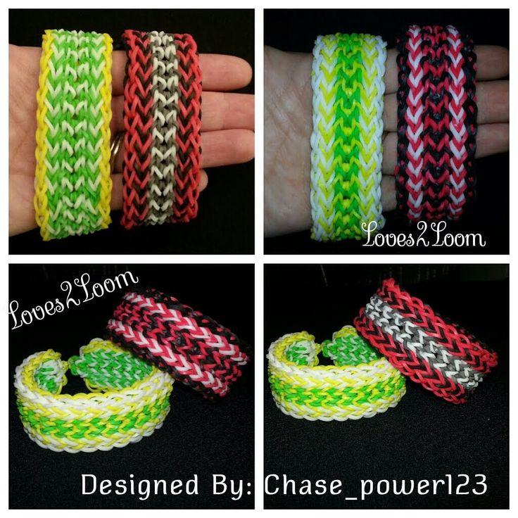 "New* Inverted Fringe"" Advanced Rainbow Loom Bracelet/ How To Tutorial"