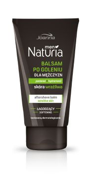 Balsam po goleniu Naturia men do skóry wrażliwej o konsystencji lekkiej emulsji zapewnia optymalna pielęgnację delikatnej skóry twarzy.