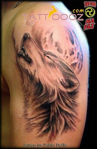 Wolf tattoo designsnon men arm for more ideas of tattoo designs visit http://tattoooz.com/