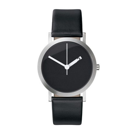 Designer Ross McBride created Normal Timepieces: Black Leather, Men'S Watches, Normal Timepiec, Extra Normal, Faces Watches, Black Faces, Products, Normal Grande, Ross Mcbride