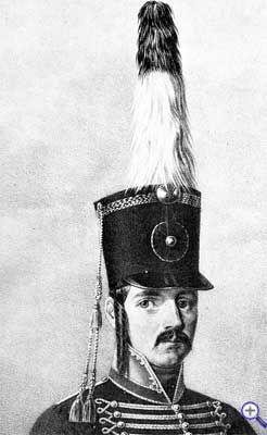 Гусарский кивер образца 1803 года.