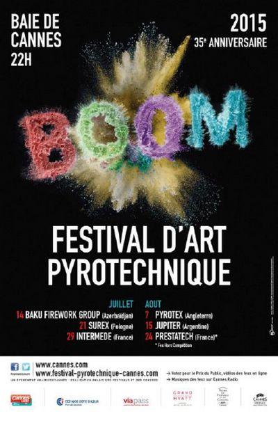 Le Festival d'art pyrotechnique de Cannes : un feu d'artifice d'émotions : La ville de Cannes organise chaque été une manifestation internationalement reconnue dans le domaine des spectacles pyrotechniques. Le Festival d'art pyrotechnique de Cannes, organisé sur le site enchanteur de la Baie de Cannes, est avec le Festival de Montréal l'un des événements majeurs de la pyrotechnie. Les spectateurs accourent du monde entier pour assister à ces spectacles magiques.
