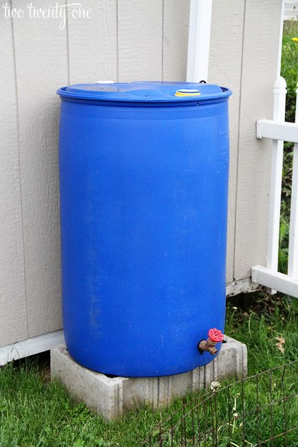 DIY Rain Barrel Installation