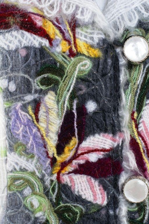 Купить Жакет Осенний поцелуй - серый, шерстяной жакет, валяный жакет, женский пиджак