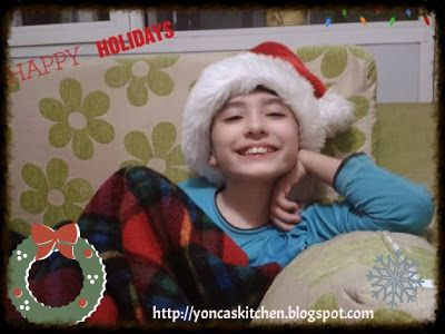 yonca is cooking-' Santa don't forget me!!!'