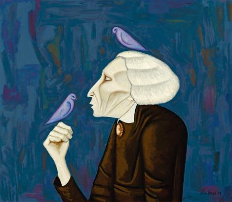 John Brack ~ The Bird Lady, 1958