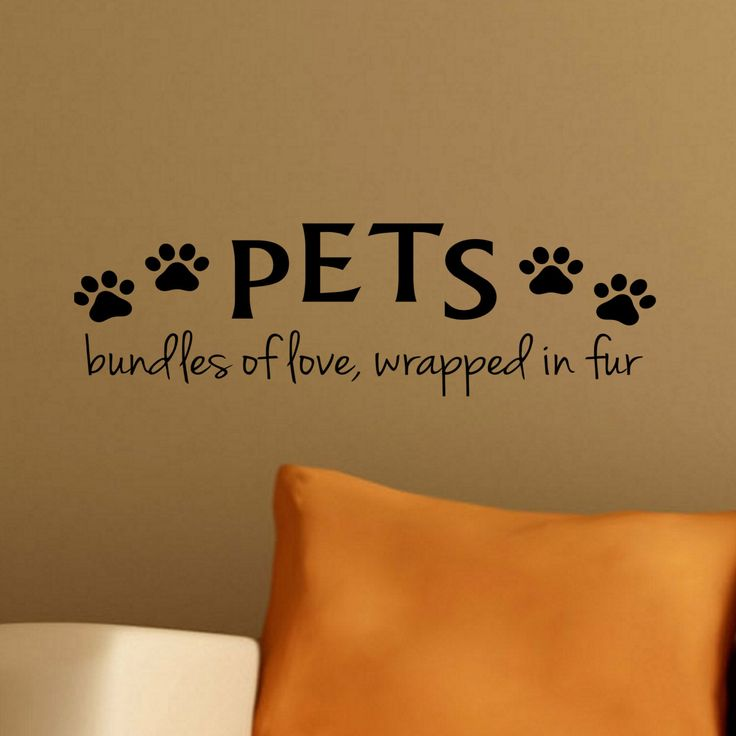 PETS bundles of love, wrapped in fur - Puppy Love Cat Dog Paw Prints Wall Vinyl Decal Sticker Family Kids Room Groomer Shop Vet Office Rescu by LighthouseDecals on Etsy https://www.etsy.com/listing/221135786/pets-bundles-of-love-wrapped-in-fur