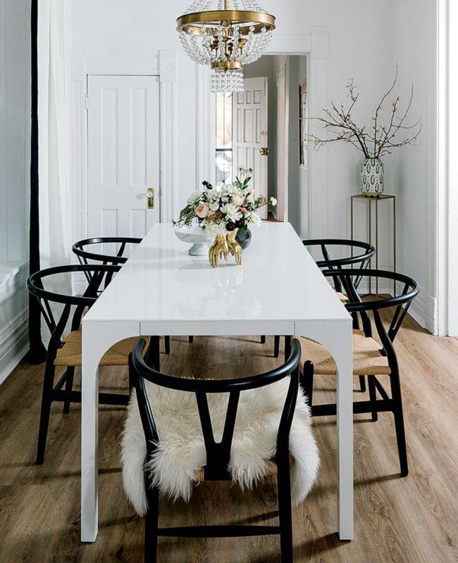 Aqua Virgo Large White Dining Table Reviews Cb2 In 2021 Tiny Dining Rooms White Dining Table Black And White Dining Room