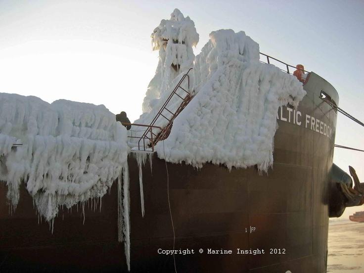 The frozen ship!