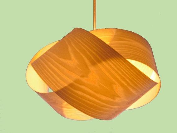 wood veneer pendant lamp 2