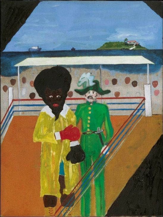 "Peter Doig and Chris Ofili, Untitled, 2000, oil on canvas, 16¼ x 12"". Courtesy of Peter Doig and Chris Ofili/Afroco."