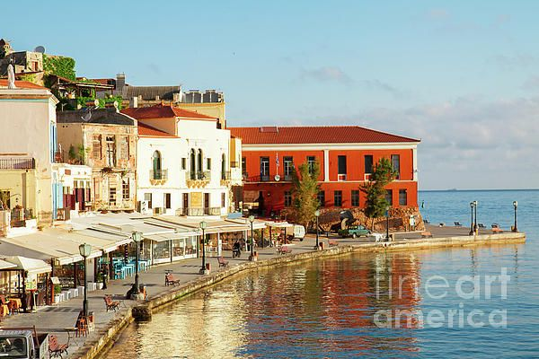 Famouse venetian harbour waterfront of #Chania old town, #Crete, #Greece by Anastasy Yarmolovich #AnastasyYarmolovichFineArtPhotography
