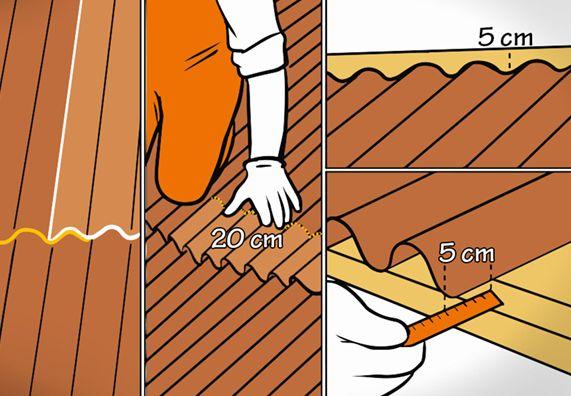Dach Decken Mit Wellplatten In 7 Schritten Obi Gartenhaus Dach Dach Gartendach
