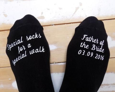 Personalised Father of the Bride Wedding Socks