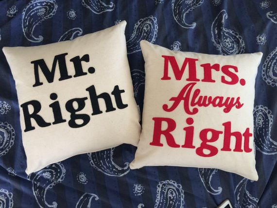 Decorative pillow Couple Love Wedding Gift Word by kreativKristine