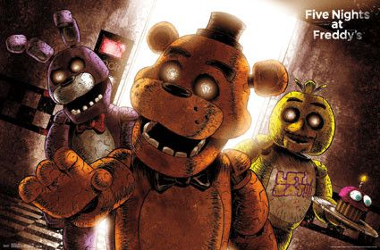 "Great Five Nights at Freddy Wall Poster Cool Design Measures 22"" x 34"""