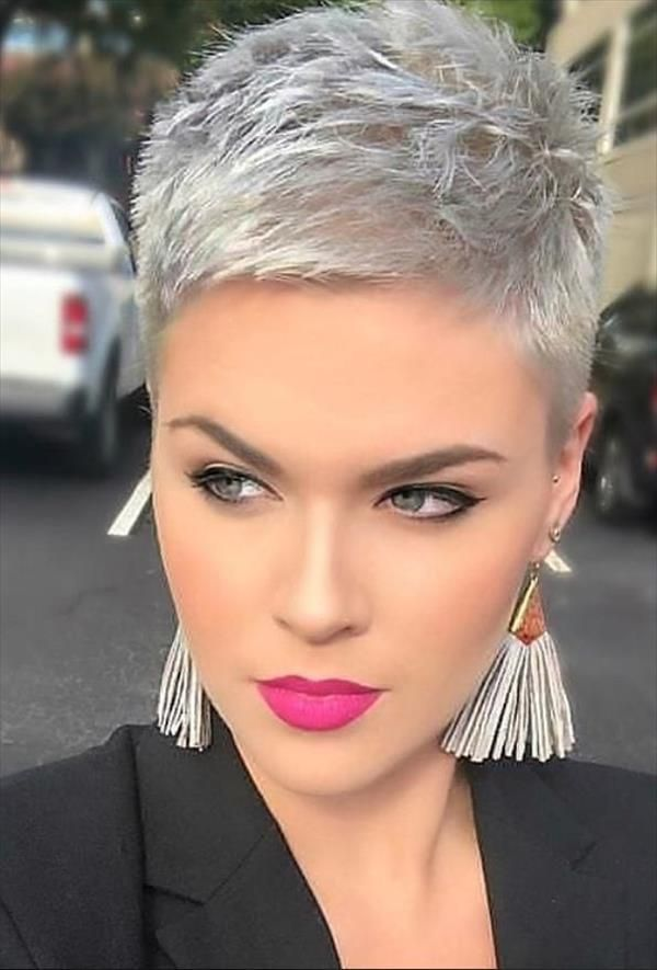 60 Chic Undercut Short Pixie Hair Style Design For Cool Woman Cozy Living To A Beautiful Lifestyle Short Hair Styles Pixie Short Hair Styles Haircut For Thick Hair