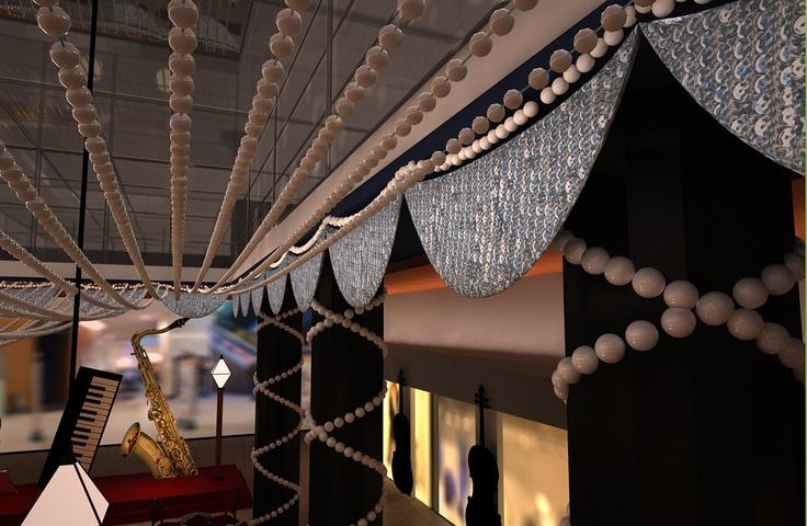 Barcelona, Diseño y Render, 3D de Guernik Empresa  Triangle, espacio Fnac en Plaza Catalunya