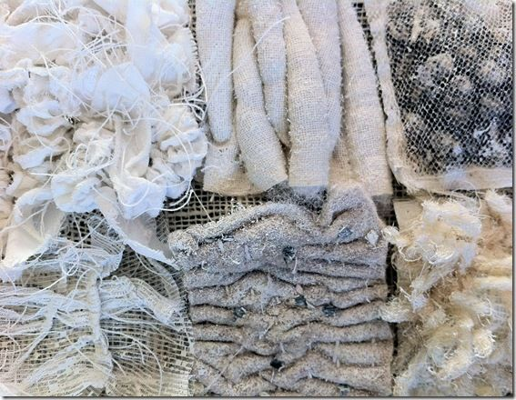 Textile Texture Samples - manipulating fabrics to create surface pattern & texture