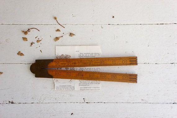 Vintage Rabone Boxwood carpenters ruler by AlbertandGrace on Etsy