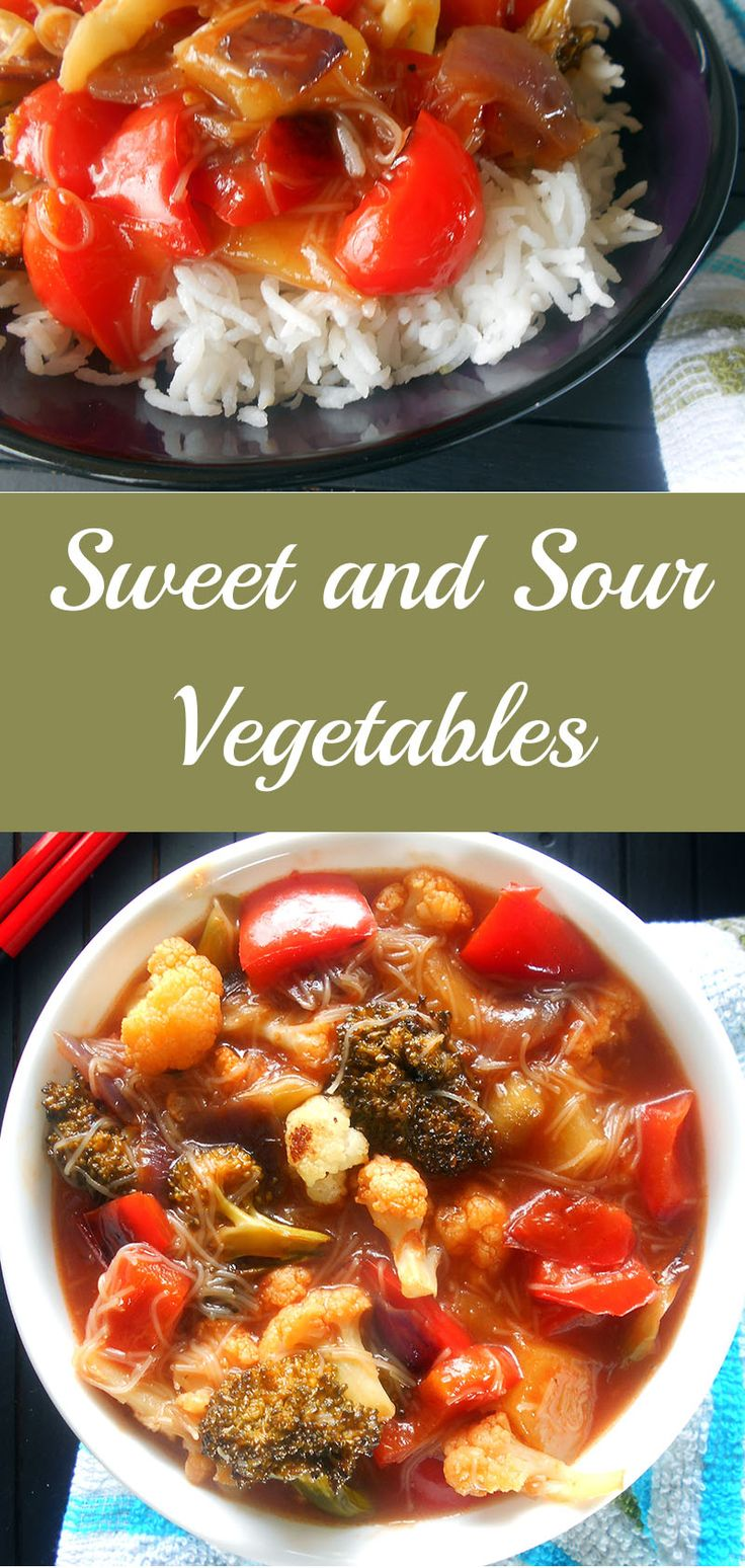 Sweet and Sour Vegetables is a very hearty meal that is vegan friendly. Made with fresh veggies. Perfect weeknight meal or any dinner recipe.