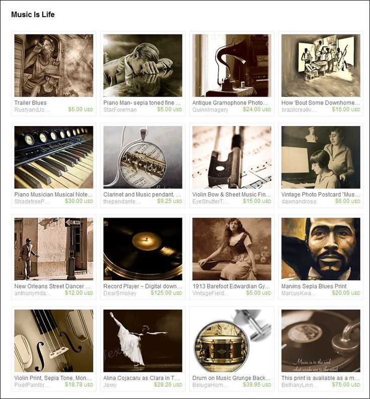 'Music is Life'  Curated by Micki Findlay - SingingPhotographer on Etsy. (Inspired by the incredible art called 'Trailer Blues' by Iva of RustyandJoesScrap on Etsy)