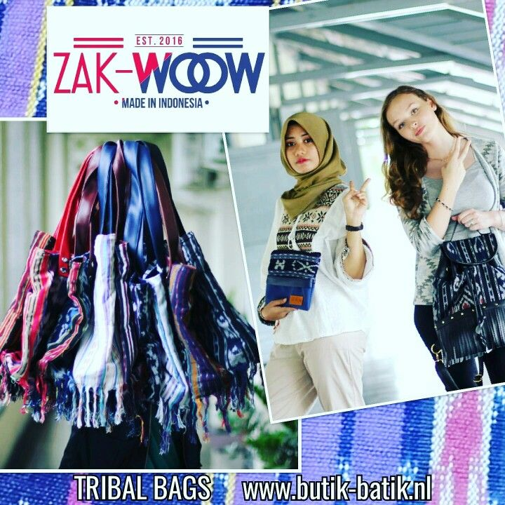 Trendy tassen van het jonge label 'ZAK-WOOW' made in Indonesia!!  #Ethnic # tribal #bohemian HippeShops - De hipste webshops