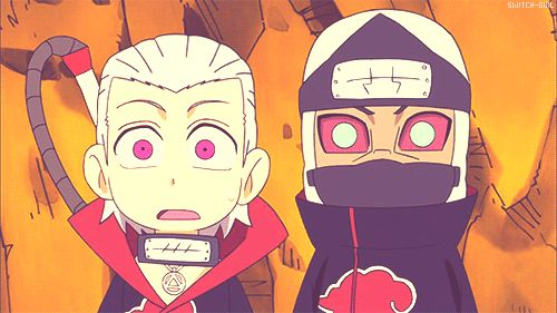 Hidan and Kakuzu-- omfg, I've been looking for a gif of this scene for so long!