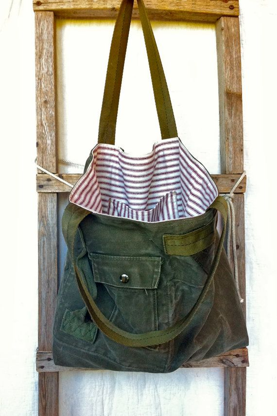 US  reconstructed vintage military duffle tote bag by yahbag, $140.00