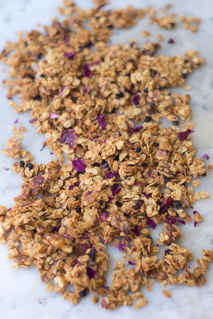Rose Petal Granola | QUITOKEETO. Home grown/non sprayed dried rose ...
