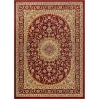 Timeless Aviva Red 7 ft. 10 in. x 10 ft. 6 in. Traditional Area Rug