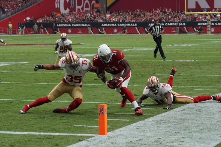 49ers vs. Cardinals:  23-20, Cardinals  -  November 13, 2016  -     RB David Johnson scores his second touchdown of the game