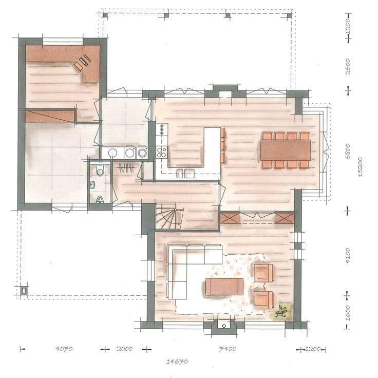 Huis bouwen villa Tandvlinder plattegrond optie begane grond