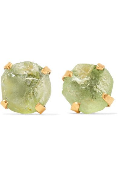 Pippa Small   14-karat gold peridot earrings   NET-A-PORTER.COM