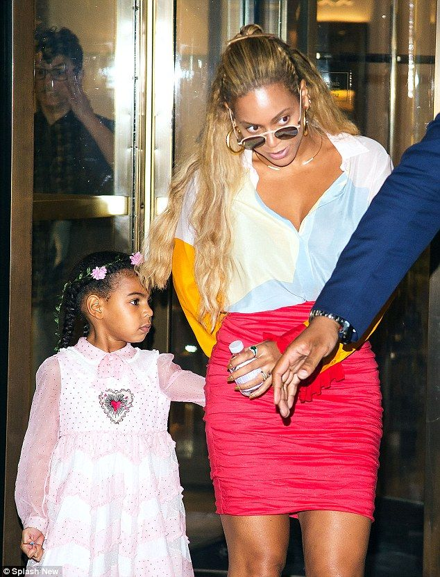 Shopping up a storm: Beyonce and Blue Ivy spent Wednesday evening at New York department store Bergdorf Goodman