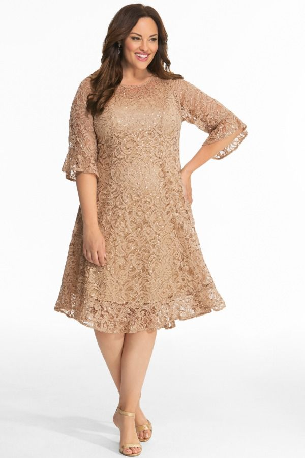 c216a6ab975a6 Sofia Sequin Lace Dress in 2019 | Color: Going for Gold | Dresses ...