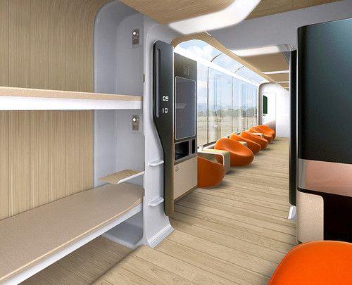Futuristic Train Interior 17 Best images about T...