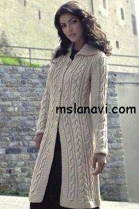 вязаное пальто спицами  http://mslanavi.com/2014/03/vyazanoe-palto-s-kosami-2/
