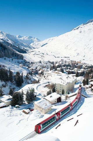 Andermatt in winter.