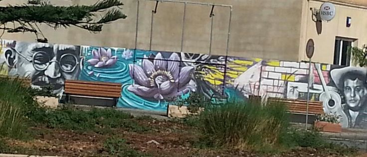 Street art in Fgura Malta. It is a pitty that this will be removed due to the extention of the HSBC