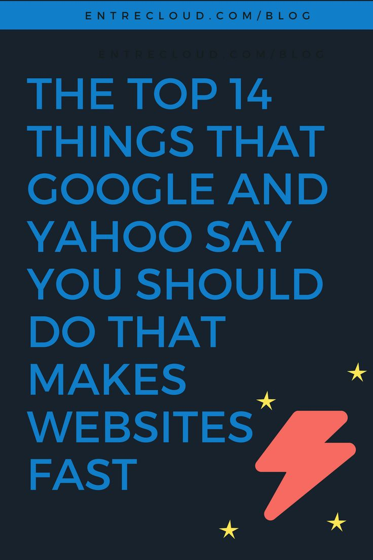 The Top 14 Things That Google and Yahoo Say You Should Do That Makes Websites Fast-For example, Kissmetrics, a leader in online marketing says that 40% of visitors bounce if their site takes more than 3 seconds to load! Don't let something so basic and trivial cost you money and notoriety. The Entrecloud Free Speed Test is waiting for you.