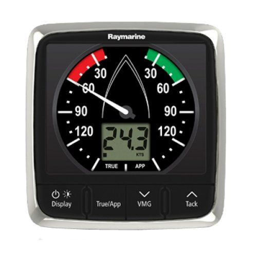 RAYMARINE RAY-E70061 / i60 Wind Display Only. i60 Wind MFG E70061 Display Only Wind speed and direction functions analog pointer and 1.3 segmented LCD 4.3W x 4.5H SeaTalk Interface. Supplied with surface mounting hardware and SeaTalk cables. Masthead unit NOT included.
