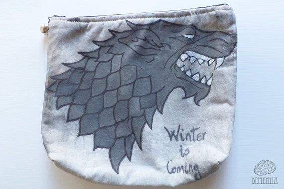 Game of Thrones Stark Small Bag, Pouch, Case, Handbag