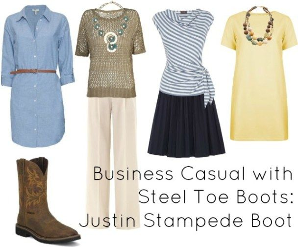 business casual steel toe boot justin women