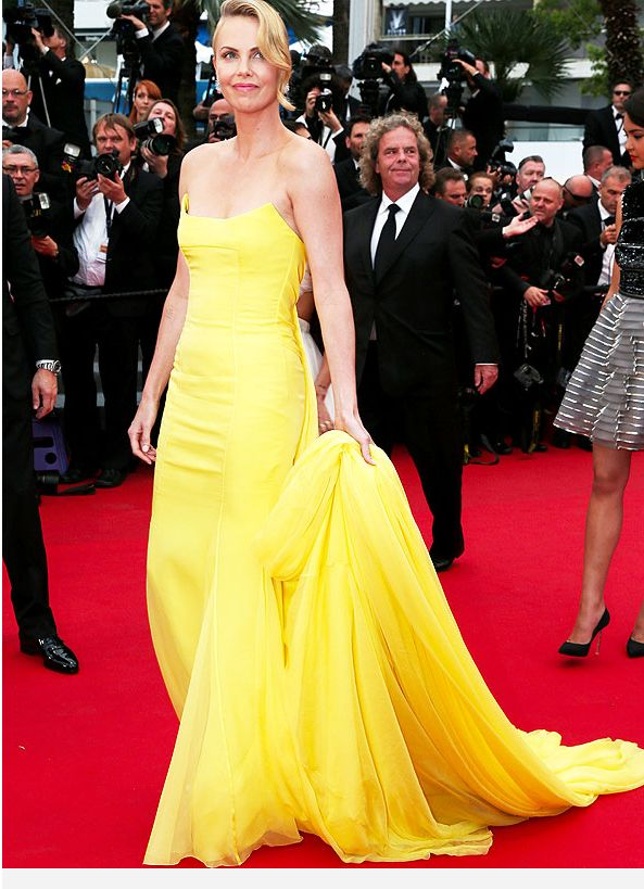 Cannes 2015: Charlize Theron Stuns in Yellow Dress at Mad Max Premiere – Style News - StyleWatch - People.com