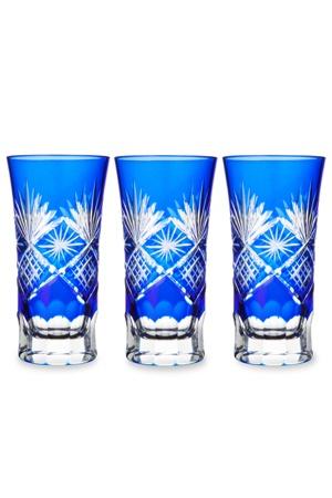 ** Skleničky - modré,broušené sklo ♣ Kiriko **