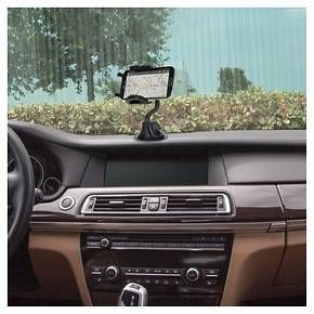 """The stuckUP conveniently allows you to mount your iPhone, smartphone, GPS and more to your window, dash, vent or console. Vent clips safely secure your device to air conditioning vents. Clamping arms open to 4"""" wide to fit larger devices. Integrated suction cup easily attaches to any windshield. Includes mounting disk with 3M™ adhesive for console and dash. 360 degree swivel allows for vertical and horizontal viewing angles. Push button release allows for easy access to your device."""