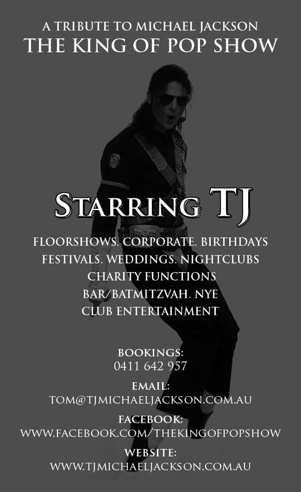 The King Of Pop Show travels nationally and internationally and performs at all corporate events, festivals, weddings, nightclubs, theme nights, birthdays, charity fundraisers, bar/bat mitzvah, club entertainment, cruise ships, all parties.